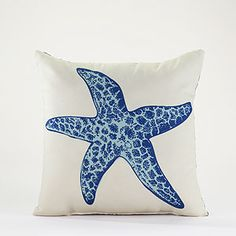 Make waves with Cost Plus World Market's oceanic Star Fish Throw Pillow.