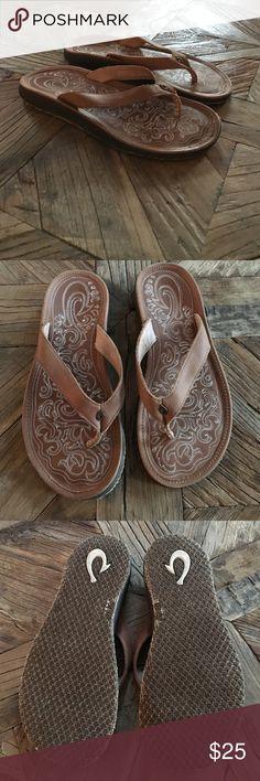 OluKai flip flops NWOT! Never worn, adorable! OluKai Shoes Sandals