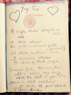Yogi Tea recipe from Carrie-Anne Moss via AnnapurnaLiving.com