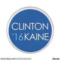 Clinton Kaine 2016 Silver Finish Lapel Pin