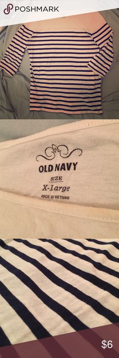 Old navy ships ahoy sailor shirt Nice n soft, relaxed fix, 3/4 sleeve boat neck cut long sleeve shirt... casual and cute Old Navy Tops Tees - Long Sleeve