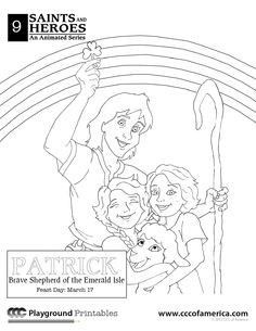 st patrick coloring pages - St Patrick Coloring Page Catholic
