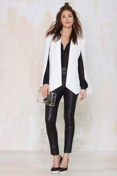 Nasty Gal Champagne Taste Cape Blazer - Ivory - Blazers   Jackets + Coats   Bleach Day