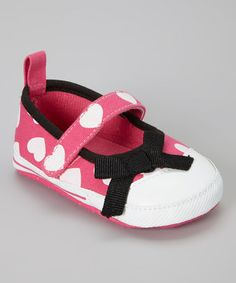Take a look at this Fuchsia Heart Mary Jane by Adorababy on #zulily today!