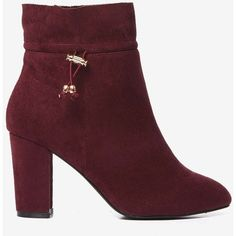 Wide Fit Exclusive Burgundy 'Anna' Boots ($89) ❤ liked on Polyvore featuring shoes, boots, wide width boots, wide fit boots, burgundy boots, burgundy shoes and wide fit shoes