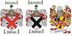 Anderson Coat of Arms / Anderson Family Crest