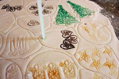 Salt Dough Ornament Recipe | Stamped salt dough ornaments