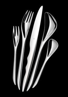 Zaha Hadid silver cutlery