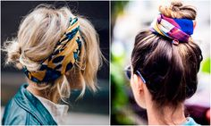 Peinados fáciles: 10 recogidos con pañuelo muy chic Bandana Hairstyles, Cute Hairstyles, Turbans, Hair Inspo, Hair Inspiration, Bobby Car, Look 2018, Cut And Style, Hair Dos