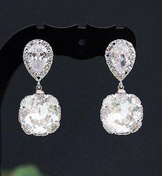 Wedding Earrings Bridal Jewelry Bridal Earrings by mysweetjewelry