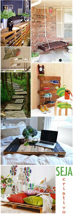 Pallets - that last one is what I want to do on the balcony