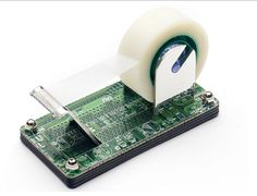 Recycled PCB Tape Dispenser via @PCMag