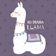 Cute llama design with no drama llama motivational quote. Alpacas, Wallpaper Iphone Cute, Cute Wallpapers, Funny Animal Pictures, Cute Pictures, Funny Pics, No Drama Lama, Horse Treats, Cute Llama