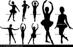 Siluetas Bailarinas De Ballet