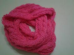 Bufanda circular color coral....