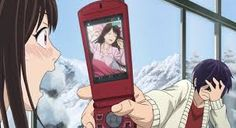 I wonder what the story behind this is...it looks like Yato wasn't the one who took it (seeing that he seems ashamed) so my guess is Yukine took it and sent it to him lol! ^^