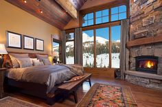 wood floors. huge windows. fireplace. AND a view of lone mountain out the window. This would be heaven.