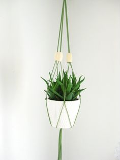 Simple beaded macrame plant hanger will bring some life into your home!