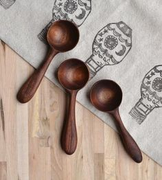 Walnut Wood Coffee Scoop by April Not June on Scoutmob Shoppe