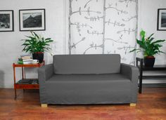 ikea Solsta sofa bed slip cover in 20 colours by HipicaInteriors