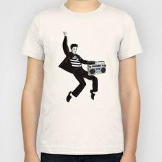 Elvis Boombox Kids T-Shirt by AudioVisuals - $20.00