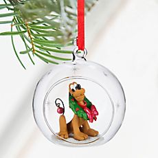 Disney Pluto Glass Ball Sketchbook Ornament, 2016