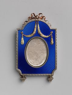 Picture frame House of Carl Fabergé Date: before 1899 Medium: Enameled silver, gold mounts