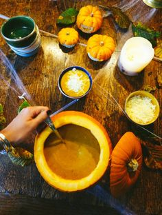 Pumpkin, Sage, Bacon, and Gruyere soup!