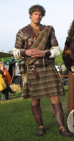 Hot guy in a kilt, that says it all! Scottish Warrior, Scottish Man, Scottish Tartans, Scottish Culture, The Iron Druid Chronicles, Celtic, Scottish Dress, Tweed, Armadura Medieval