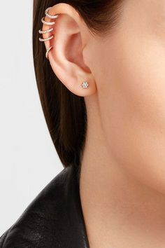 Screw fastening for pierced ears NET-A-PORTER.COM is a certified member of the Responsible Jewellery Council