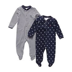 J by Jasper Conran Designer Babies pack of two navy sleep suits- at Debenhams.com