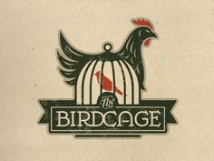 'The Birdcage' - Jerron Ames.  Clever, beautifully executed logo & type.