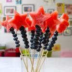 Blueberry and Watermelon Wands ...could use any shape with cookie cutters,