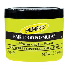 A unique blend of essential oils, Vitamins A & E, plus protein helps soften and condition the hair and scalp. Palmer's Hair Care Products Hair Food Formula restores sheen to dull, lifeless...