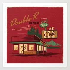 DOUBLE+R+DINER+Art+Print+by+Steven+Rhodes+-+$16.00