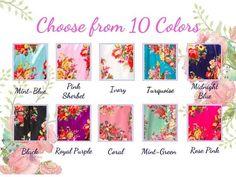 Floral Bridesmaid Robes Kimono + Complimentary Snapchat Geofilter