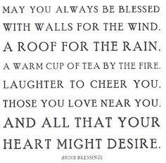 irish blessing. for inside a card someday