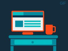 Screens & Cups - 2 - gif by eduards balodis