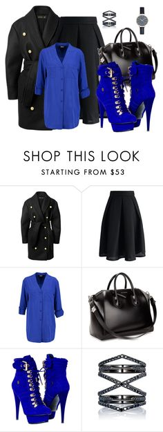 """""""Untitled #64"""" by covetfashion13 ❤ liked on Polyvore featuring Balmain, Chicwish, DKNY, Givenchy, Paolo Shoes and Eva Fehren"""