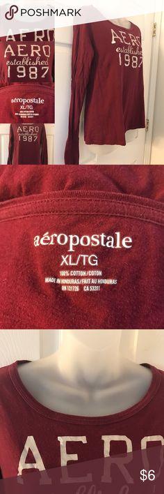 Aeropostale long sleeve tee long sleeve aero top, worn twice, very comfy, FINAL PRICE Aeropostale Tops Tees - Long Sleeve