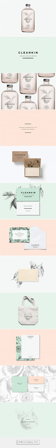 CLEANKIN Natural Cleaning Products Branding and Packaging by Marks and Maker   Fivestar Branding Agency – Design and Branding Agency & Curated Inspiration Gallery #branding #packaging #design #designinspiration