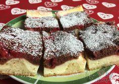 Fantastický tvarohový krém s ovocem dle vlastního výběru. Já jsem tentokrát použila mražený rybíz. Koláček byl fantastický a z plechu zmizel doslova za sekundu :) Jemné těsto dvou barev a šťavnaté díky tvarohovému krému. Autor: Mineralka 20 Min, Pavlova, Pancakes, Cheesecake, Food And Drink, Cooking, Breakfast, Desserts, Kitchen