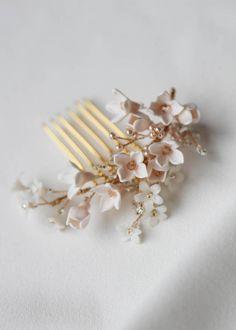 Pettine per capelli da sposa Triple Drape Diamante Avorio Perla VINTAGE Gatsby Capelli Pezzo