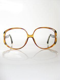 318f4cf76f Vintage CHRISTIAN DIOR Amber Glasses Eyeglasses OVERSIZED 1970s Optical  Frames 70s Indie