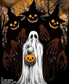 10 Spooktastic Decoration Ideas For Halloween Halloween 2018, Photo Halloween, Halloween Vintage, Halloween Artwork, Halloween Tags, Halloween Painting, Creepy Halloween, Halloween Horror, Holidays Halloween