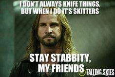 """Colin Cunningham as Pope - the most stabbity man in the world from the TV Show """"Falling Skies""""."""