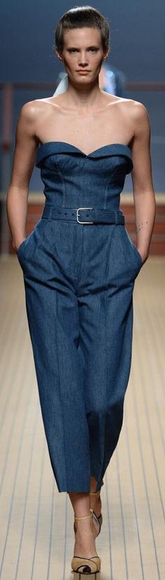Ermanno Scervino SS2014 RTW MILAN | The House of Beccaria~ DENIM JUMPSUIT