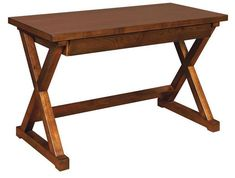Amish Rustic Cherry Wood Dexter Writing Desk - Quick Ship Create that writing spot that's just for you with a gorgeous Dexter desk! Rustic look made with rustic cherry wood. Choice of finish color. Amish made in Indiana. Available Quick Ship with a build time of just 2 to 3 weeks.