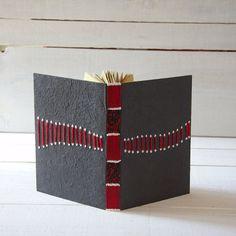 coptic bound journal  notebook sketchbook or photo book por kucita