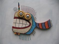 Twisted Fish 139 Original Wall Sculpture by Fig by FigJamStudio, $125.00